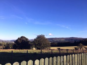 View from the garden at Croftjane